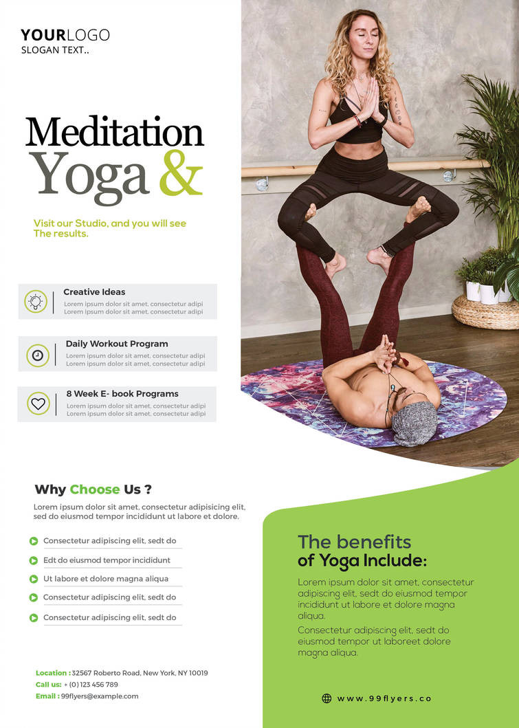 Yoga Flyer Template Free