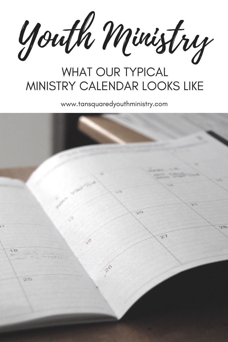 Youth Ministry Calendar Template